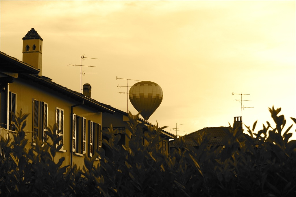 Heißluftballon Sepia Filter (CC) convictorius