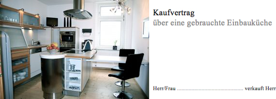 kaufvertrag gebrauchte k che oder m bel kostenlos muster convictorius. Black Bedroom Furniture Sets. Home Design Ideas