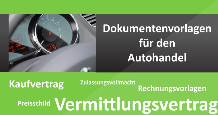 Vorlagen für den Autohandel