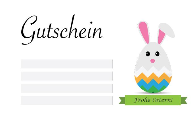 Gutschein Frohe Ostern Vektor