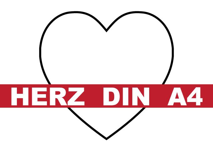 Herz DIN A4 Vorlage