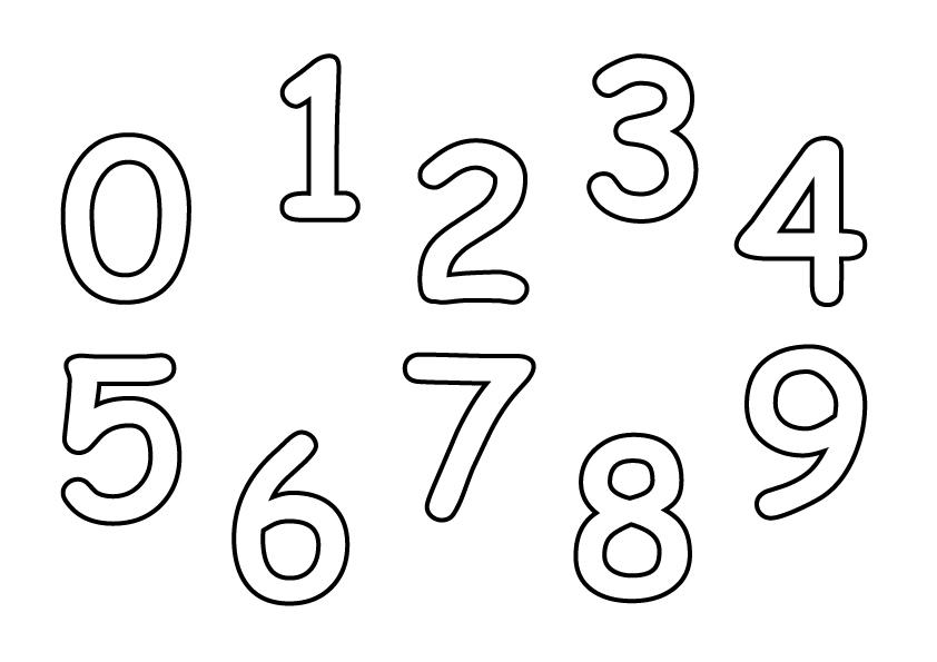 Zahlen Malvorlage