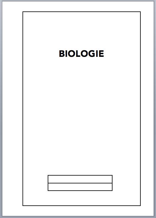Deckblatt Biologie Vorlage