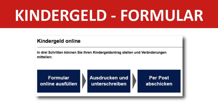 Kindergeld online Formular Download