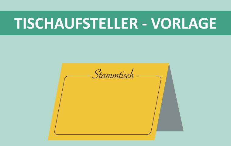 """Tischaufsteller Vorlage """"Reserviert"""" & """"Stammtisch"""""""