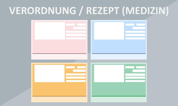 Verordnung Rezept (Medizin) Grafik Vorlage