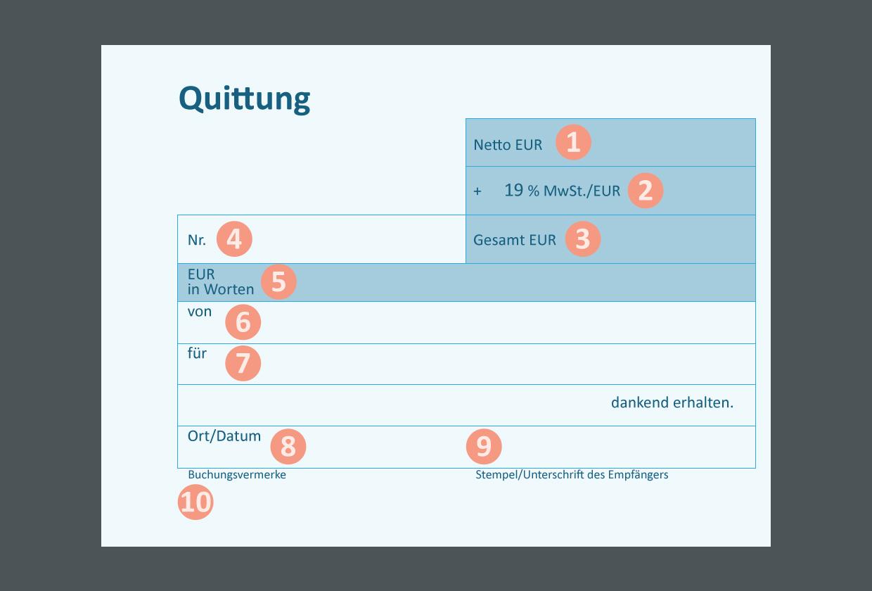 Quittung Grafik als Vektor Datei