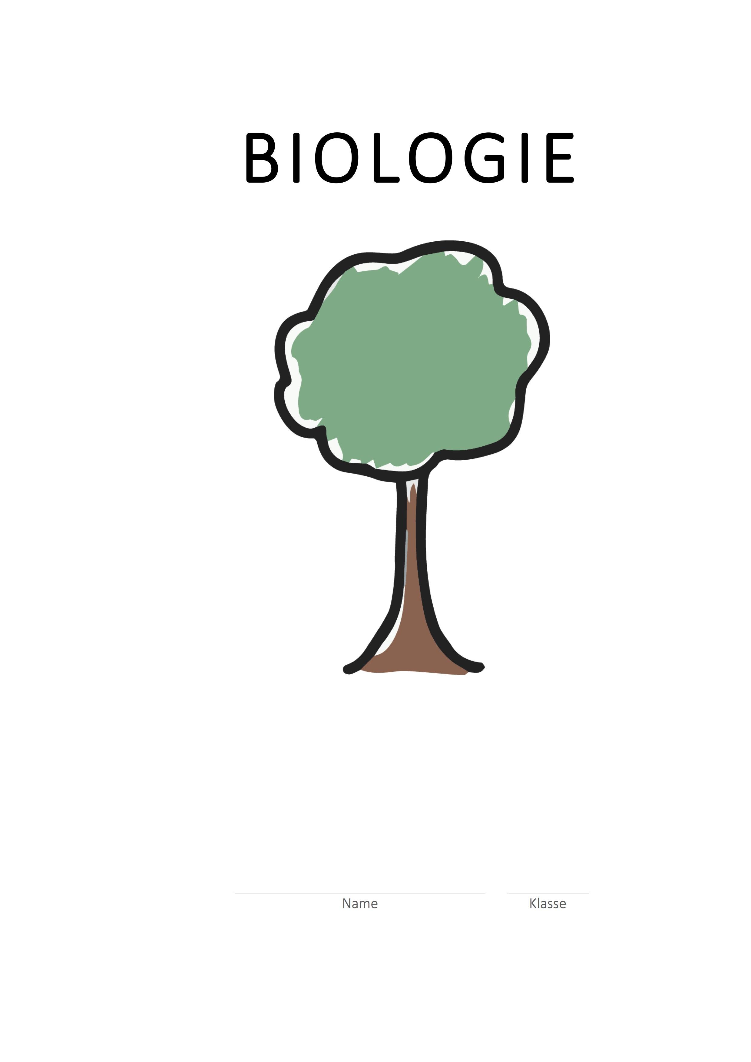 Deckblatt Schule Biologie Baum Vorschaubild | CONVICTORIUS
