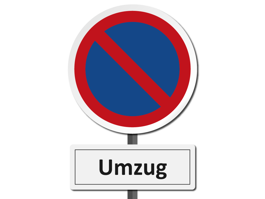 Halteverbot Umzug Schild