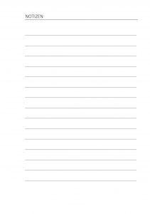 Hausaufgabenheft Notizen