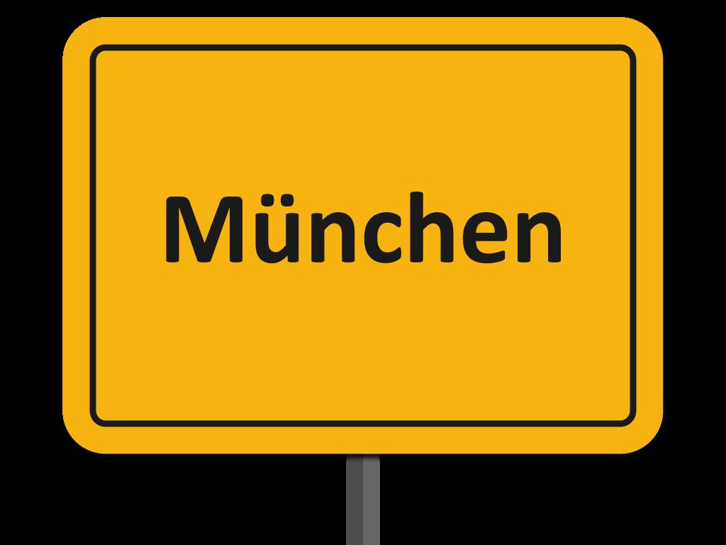 Ortsschild Stadt München
