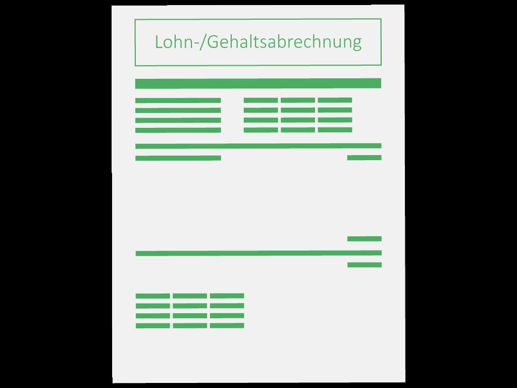 Lohnabrechnung Muster Icon Symbol