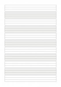 Seite vom Schreibheft A5 Literatur 1