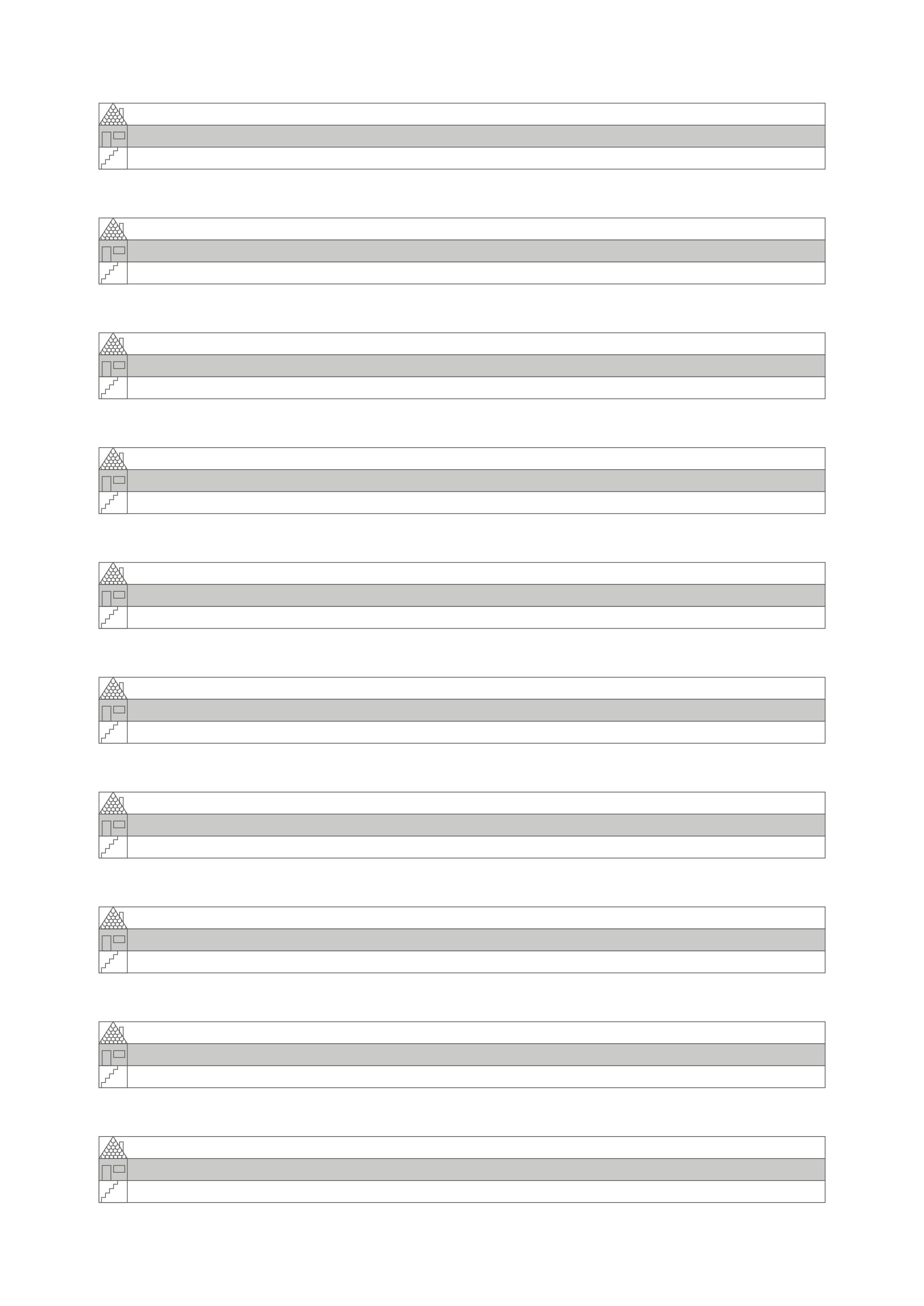 Arbeitsblatt »Lineatur mit Häuschen« DIN A4