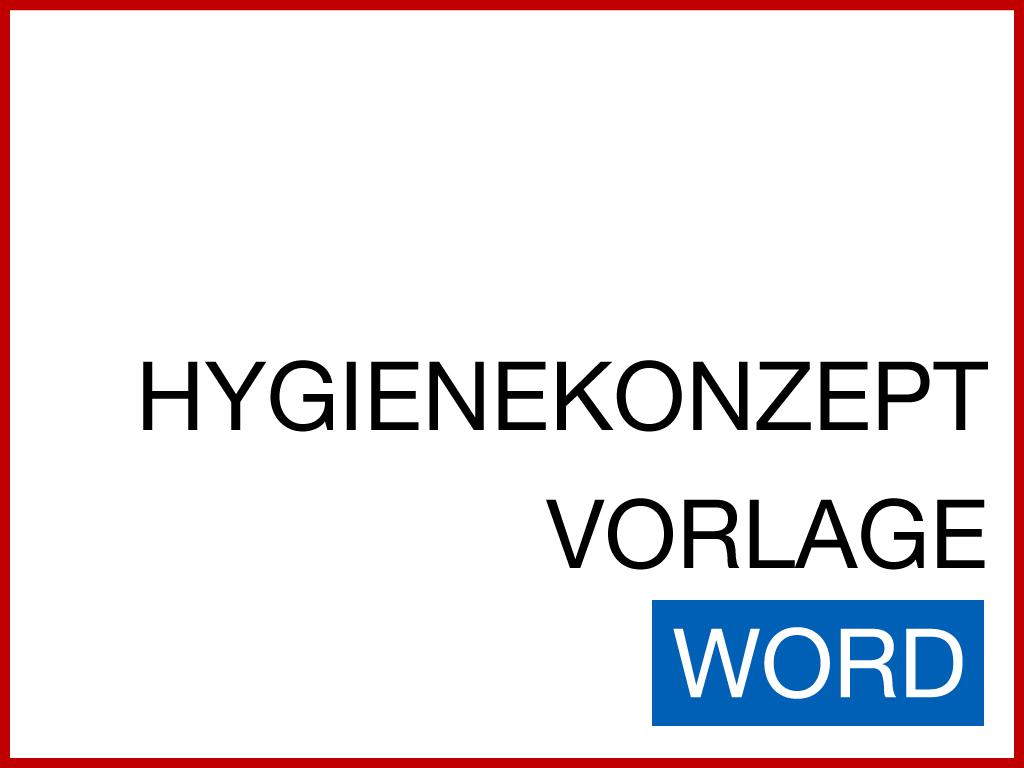 Hygienekonzept Muster Word
